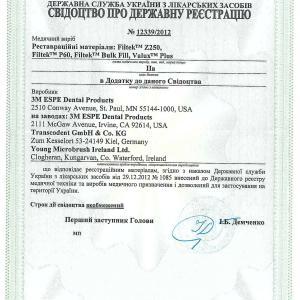 Свидетельство о государственной регистрации № 12339/2012